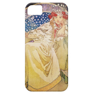 iPhone 5 van Alphonse Mucha Princess Hyacinth Barely There iPhone 5 Hoesje