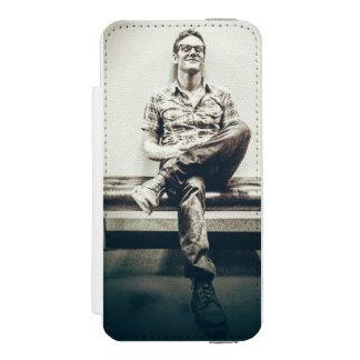 iphone 5 van de de portefeuillecel van