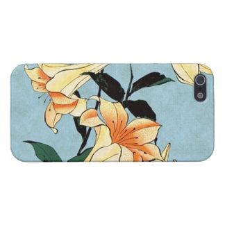 iPhone 5 van de Lelies van Hokusai Japanse Hoesje iPhone 5 Cases