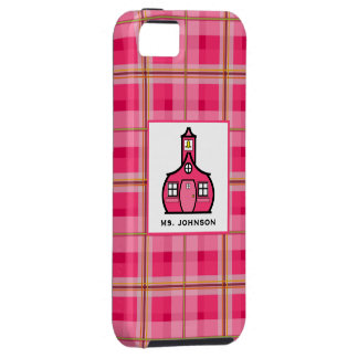 iPhone 5 van de Leraar van de plaid hoesje-Partner Tough iPhone 5 Hoesje