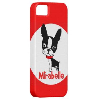 Iphone 5 van de Mirabel van Boston Terrier hoesje