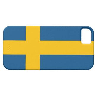 iPhone 5 van de Vlag van Zweden hoesje (hoogte - k