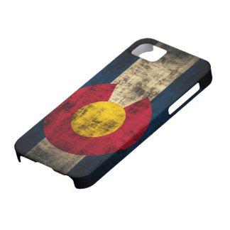 iPhone 5 van Grunge van de Vlag van Colorado nauwe Barely There iPhone 5 Hoesje