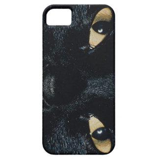 iPhone 5 van het Gezicht van de Kat van KRW Zwarte Barely There iPhone 5 Hoesje