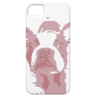 iPhone 5 van het Ontwerp van Boston Terrier Barely There iPhone 5 Hoesje