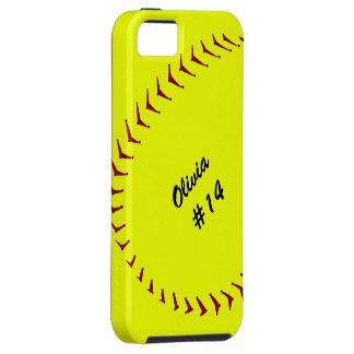 iPhone 5 van het Softball van Fastpitch Hoesje