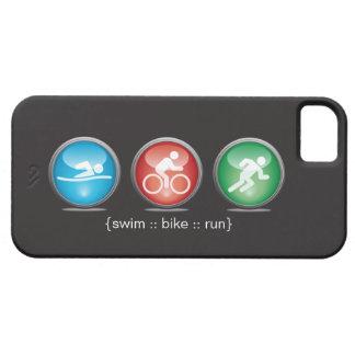 iPhone 5 (wit) Hoesje van de zwemmen-fiets-Looppas