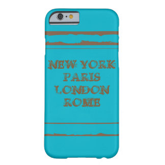 iPhone 6, Barely There NEW YORK PARIJS LONDON ROME Barely There iPhone 6 Hoesje