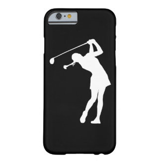 iPhone 6 geval Dame Golfer Silhouette White op Barely There iPhone 6 Case