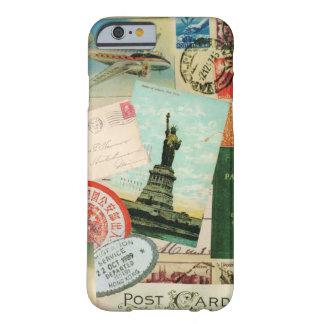 iPhone 6 geval-vintage Reis en Zegels Barely There iPhone 6 Case