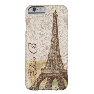 iPhone 6 het Franse Monogram van de Toren van Barely There iPhone 6 Hoesje