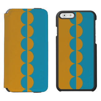 iPhone 6 het Hoesje van de Portefeuille, Blauw en