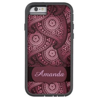 iPhone 6, het Taaie Roze Paisley Monogram van Tough Xtreme iPhone 6 Hoesje