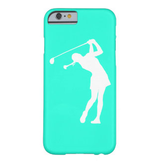 iPhone 6 hoesje Dame Golfer Silhouette White op Tu Barely There iPhone 6 Hoesje