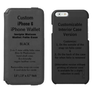 iPhone 6 van de douane de ZWARTE van het Hoesje