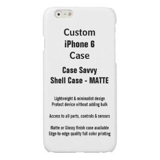 iPhone 6 van de douane het Hoesje van Savvy Shell iPhone 6 Hoesje Glanzend
