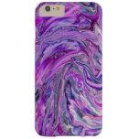 iPhone 6 van de Kunst van de Golf van de lavendel iPhone 6 Plus Barely There Case