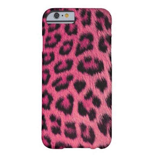 iPhone 6 van de Luipaard van Girly Roze geval Barely There iPhone 6 Case