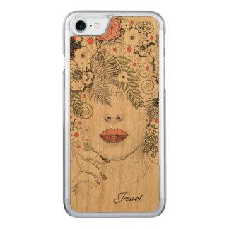 iPhone 6 van de Natuur van de moeder Abstracte Carved iPhone 8/7 Hoesje