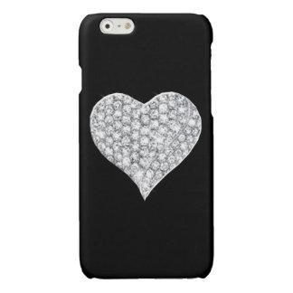 iPhone 6 van het Hart van de diamant Hoesje iPhone 6 Hoesje Glanzend