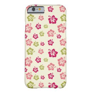 iPhone 6 van het Patroon van de Bloem van de hibis Barely There iPhone 6 Hoesje