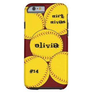 iPhone 6 van het Softball van Fastpitch hoesje