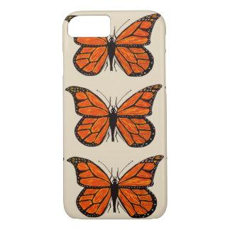 iPhone 7 nauwelijks daar Vlinders van het Hoesje