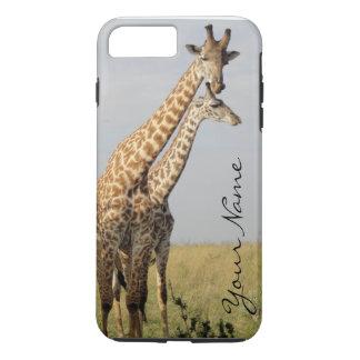 iPhone 7 van de Familie van de giraf plus Hoesje