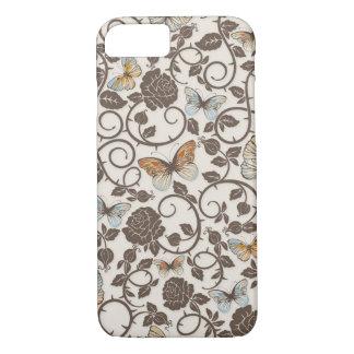 iPhone 7 van vlinders en van Rozen Hoesje