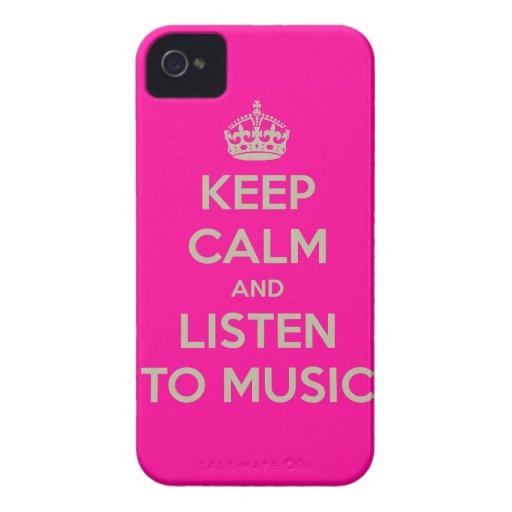 Iphone hoesje met keep calm tekst. iPhone 4 hoesje