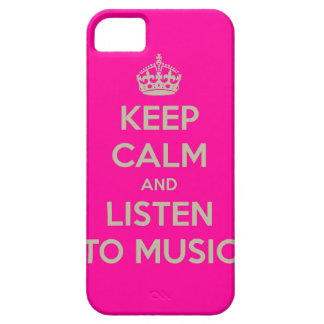 Iphone hoesje with keep calm text iPhone 5 cases