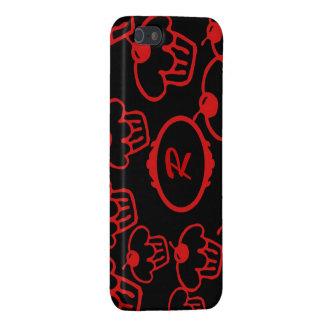 iPhone SE, 5 Hoesje, Rode Cupcakes op Zwarte, iPhone 5 Cover
