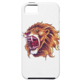 iPhone SE + iPhone 5/5S, de Taaie Leeuw van het Tough iPhone 5 Hoesje