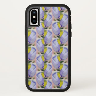 iPhone X hoesje met painterly tulpenpatroon