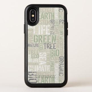 iPhone X van OtterBox van de Woorden van de