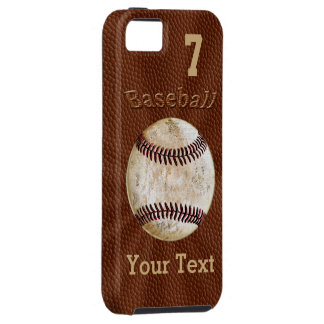 iPhoneHoesjes van het honkbal met UW AANTAL en Tough iPhone 5 Hoesje