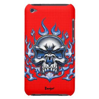 Ipod BT - de Schedel van het Kristal met Vlammen iPod Touch Hoesje