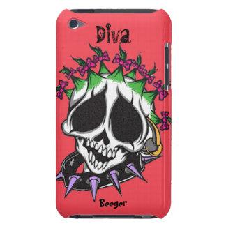 Ipod BT - Diva de Schedel van Glam iPod Touch Hoesje
