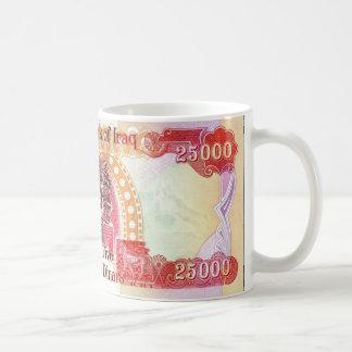 Iraakse Dinar 25.000 de Mok van de Koffie - de kop