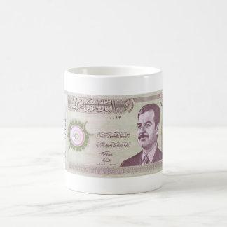 Iraakse Dinar met Saddam Hussein Koffiemok