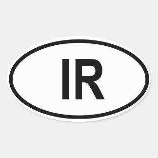 "Iran ""IRL "" Ovale Sticker"