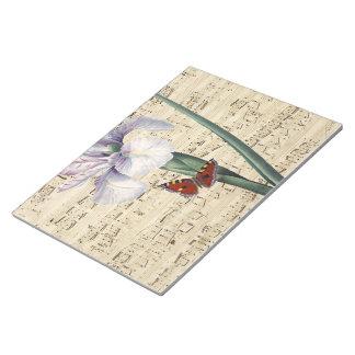 iris en vlindermuziek notitieblok