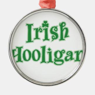 Irish_Hooligan Zilverkleurig Rond Ornament