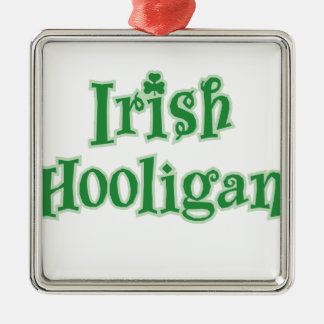 Irish_Hooligan Zilverkleurig Vierkant Ornament