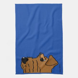 Irish Terrier Kopf Theedoek