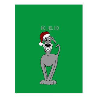 Irish Wolfhound Santa Briefkaart
