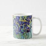 Irissen door Vincent van Gogh 1898 Basic Witte Mok