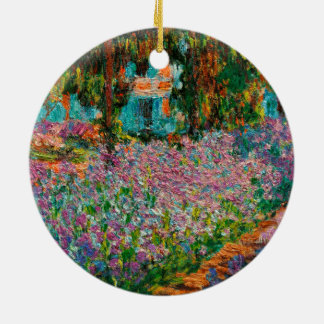 Irissen in Giverny Claude Monet Rond Keramisch Ornament