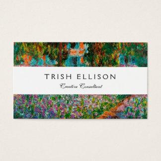 Irissen in Tuin Monets in Giverny door Claude Mone Visitekaartjes