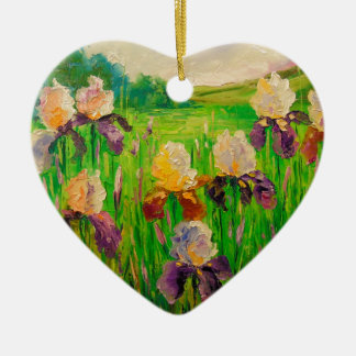 Irissen Keramisch Hart Ornament